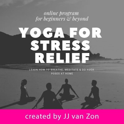 online program yoga for stress relief product by JJ van Zon