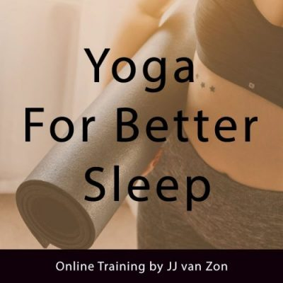 yoga for better sleep online program picture work with me page by JJ van Zon