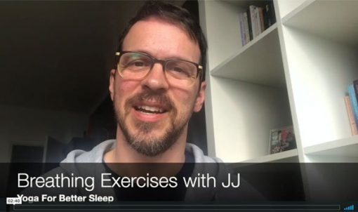 breathing exercises for better sleep for training: yoga for better sleep by JJ van Zon