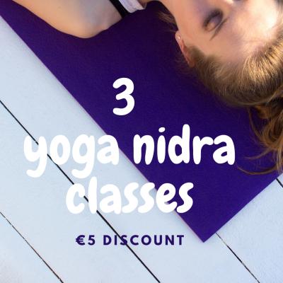 Three online yoga nidra classes package with JJ van Zon